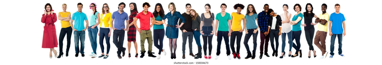 Collection of full length portrait of people in a collage