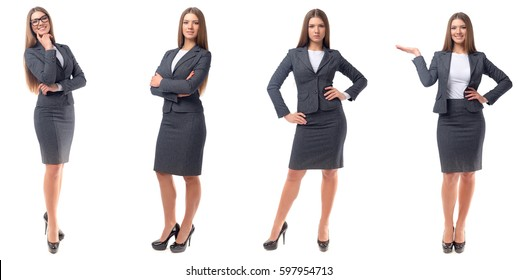 Collection of full length portraits of businesswomen