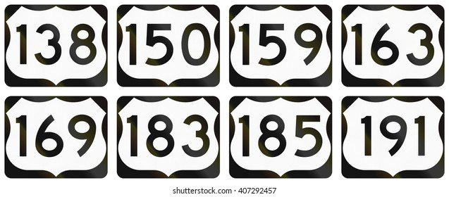 Collection of general United States Route shields.