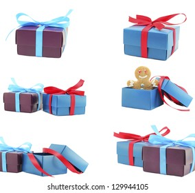 collection Gift boxes with bow