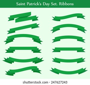 collection of green ribbons