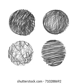 collection of hand drawn circles.