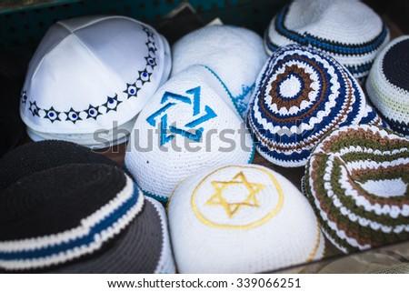 Collection Handmade Kippah Kipa Yarmulke Stock Photo Edit Now