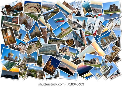 Collection of images with various destinations in Bulgaria