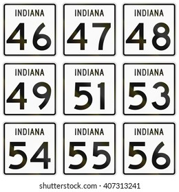 Collection of Indiana Route shields used in the United States.