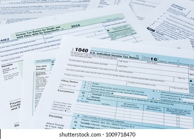 Collection of IRS federal income tax forms