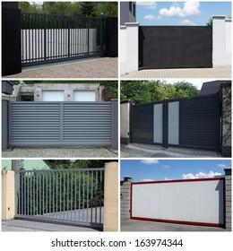 collection of metal, modern gates