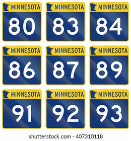 Collection of Minnesota Route shields used in the United States.