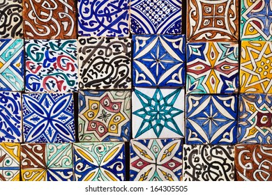 collection of Moroccon wall tiles