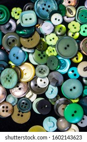 A Collection of Multicolour Different Size Buttons