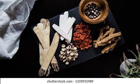 Collection of natural raw herbal ingredients as part of an herbal tonic formula that can be prepared alone as a tea, or used as a base for soup making.