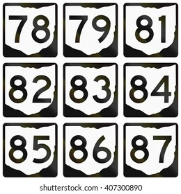 Collection of Ohio Route shields used in the United States.
