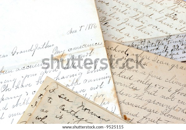 Collection Old Letters Late 1800s Stock Photo (Edit Now) 9525115
