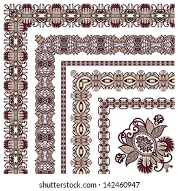 collection of ornamental floral vintage frame design. All components are easy editable, raster version