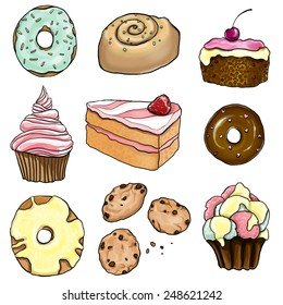 A collection of pastry