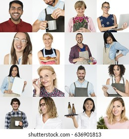 Collection of people startup small business