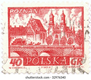 Collection of Polish stamps - medieval Poznan