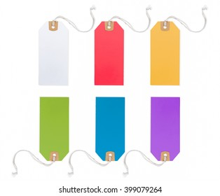 Collection of Price Tag in different color, isolated on white background.