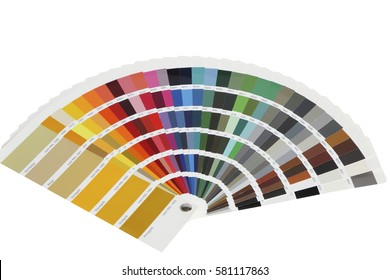 collection of ral colours isolated on white background