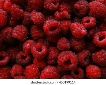 Collection of raspberries