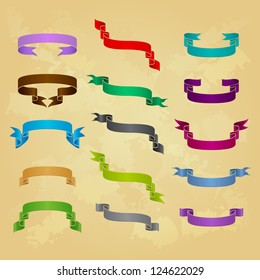 Collection of ribbon icons