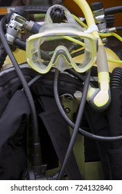 A collection of Scuba diving equipment