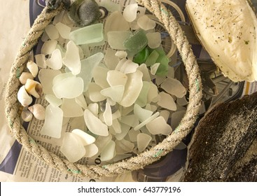 A collection of sea glass