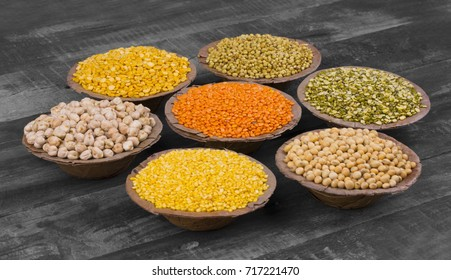 Collection of Seeds Food in Red Lentils, Masoor Dal, Coriander Seeds, Dhaniya, Split Chickpea, Chana Dal, Toor Daal, Chick Pea, Kabuli Chana, Yellow Split Dal, Mogar Daal, Black Eyed Peas, Mung Daal