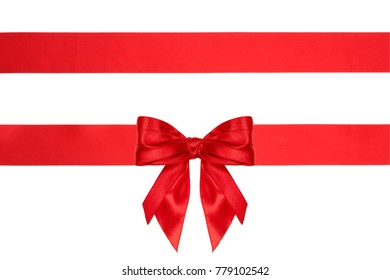 collection set of present bow with ribbons isolated on white background