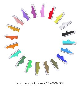 Collection of sneakers - Isolated on a white background