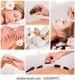 Collection of spa images from spa salon