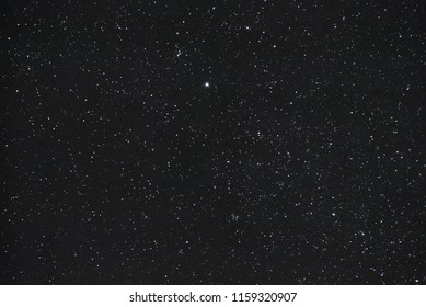 Collection of stars in the black night sky without milkyway