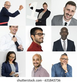 Collection of successful business people