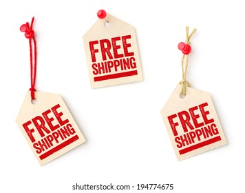 Collection of tags with the text Free shipping