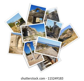 collection of travel photos with ancient ruins