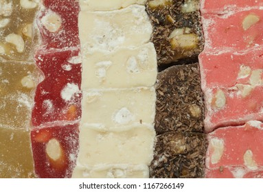 collection turkish delight  background closeup