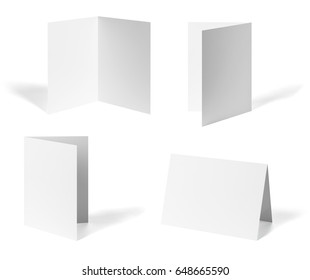 collection of various leaflet  paper on white background. each one is shot separately
