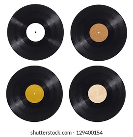 collection of  various vynil on white background. each one is shot separately