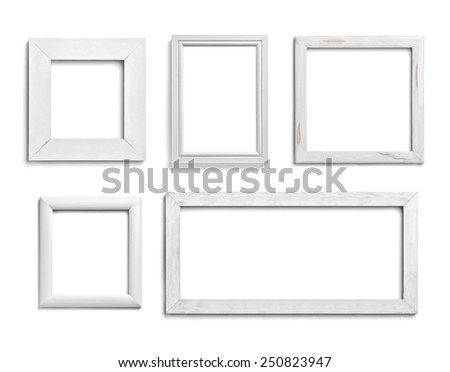 Collection Various White Wood Frames On Stock Photo (Edit Now ...