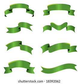 Collection of vector curves ribbons in different shape