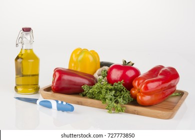 collection vegetables on a white background