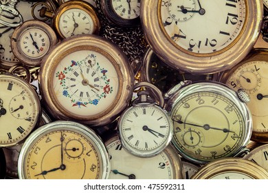 Collection of vintage pocket watch.