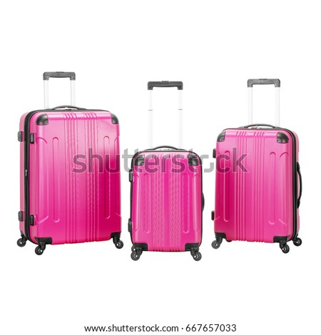 Collection Vip Trolley Bags Isolated On Stock Photo Edit Now