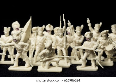 Collection of White Toy Soldiers Calvary