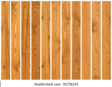 Collection of wood planks textures isolated on white