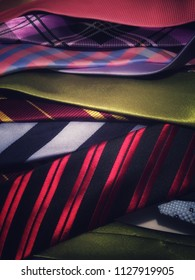 A collections of suit ties