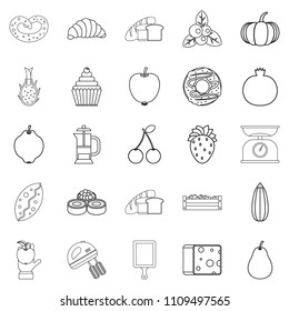 Collective farm icons set. Outline set of 25 collective farm icons for web isolated on white background