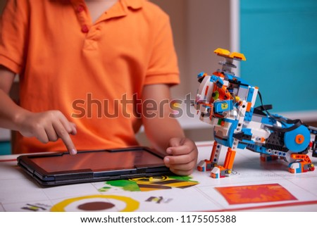 Collects Robot Plastics Details Programmed On Stock Photo Edit Now