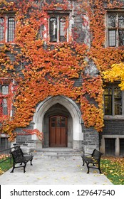 College building with Gothic Architecture