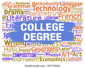 College Degree Indicating Learn Qualification And Educated
